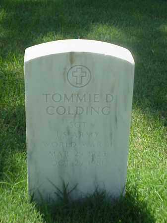 COLDING (VETERAN WWII), TOMMIE D - Pulaski County, Arkansas | TOMMIE D COLDING (VETERAN WWII) - Arkansas Gravestone Photos