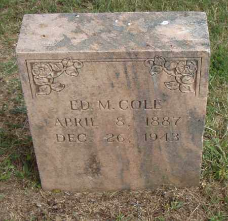 COLE, ED  M. - Pulaski County, Arkansas | ED  M. COLE - Arkansas Gravestone Photos