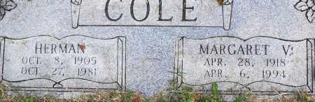 COLE, MARGARET V - Pulaski County, Arkansas | MARGARET V COLE - Arkansas Gravestone Photos