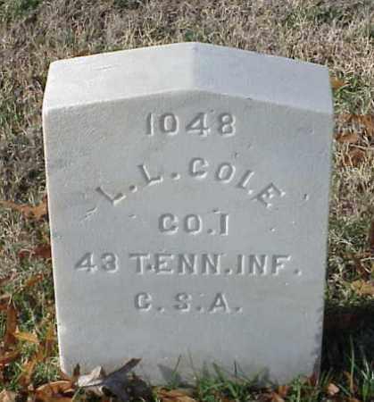 COLE (VETERAN CSA), L L - Pulaski County, Arkansas | L L COLE (VETERAN CSA) - Arkansas Gravestone Photos