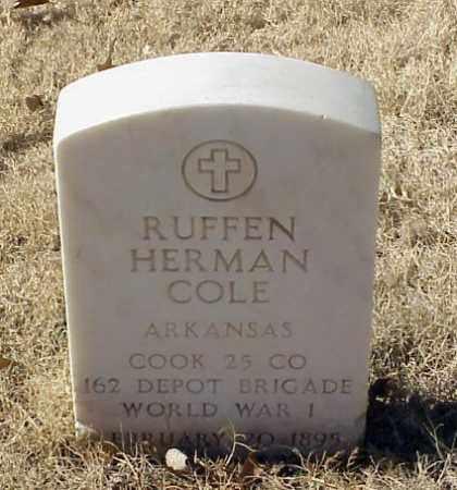 COLE (VETERAN WWI), RUFFEN HERMAN - Pulaski County, Arkansas | RUFFEN HERMAN COLE (VETERAN WWI) - Arkansas Gravestone Photos