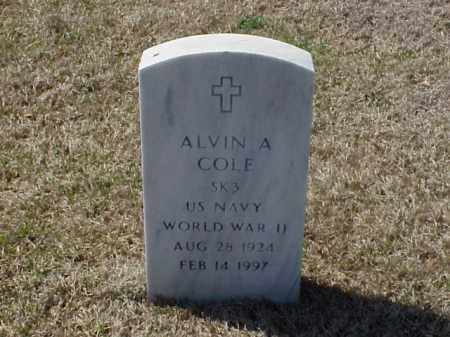 COLE (VETERAN WWII), ALVIN A - Pulaski County, Arkansas | ALVIN A COLE (VETERAN WWII) - Arkansas Gravestone Photos