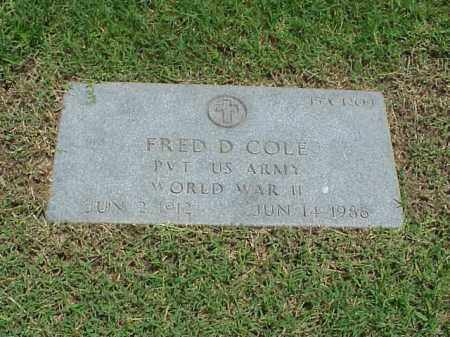 COLE (VETERAN WWII), FRED D - Pulaski County, Arkansas   FRED D COLE (VETERAN WWII) - Arkansas Gravestone Photos