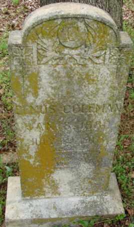 COLEMAN, ELMUS - Pulaski County, Arkansas | ELMUS COLEMAN - Arkansas Gravestone Photos