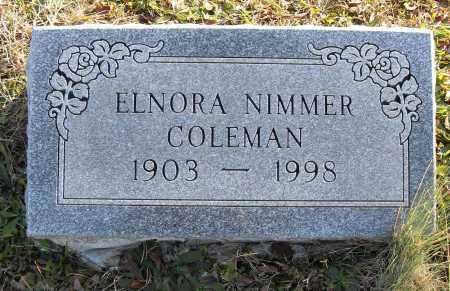 NIMMER COLEMAN, ELNORA - Pulaski County, Arkansas | ELNORA NIMMER COLEMAN - Arkansas Gravestone Photos