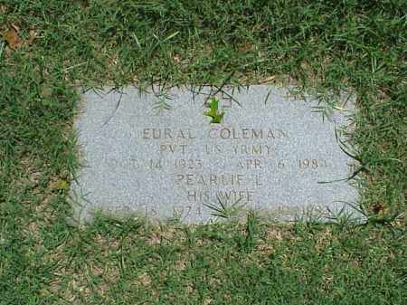 COLEMAN, PEARLIE L. - Pulaski County, Arkansas | PEARLIE L. COLEMAN - Arkansas Gravestone Photos