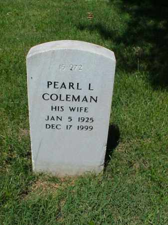 COLEMAN, PEARL L - Pulaski County, Arkansas | PEARL L COLEMAN - Arkansas Gravestone Photos