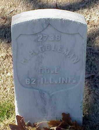 COLEMAN (VETERAN UNION), H H - Pulaski County, Arkansas | H H COLEMAN (VETERAN UNION) - Arkansas Gravestone Photos