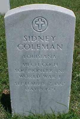 COLEMAN (VETERAN WWI), SIDNEY - Pulaski County, Arkansas   SIDNEY COLEMAN (VETERAN WWI) - Arkansas Gravestone Photos
