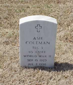 COLEMAN (VETERAN WWII), ASIE - Pulaski County, Arkansas   ASIE COLEMAN (VETERAN WWII) - Arkansas Gravestone Photos