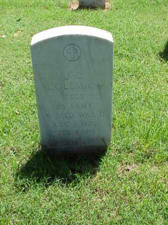 COLEMAN (VETERAN WWII), J C - Pulaski County, Arkansas | J C COLEMAN (VETERAN WWII) - Arkansas Gravestone Photos