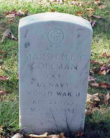 COLEMAN (VETERAN WWII), MARSHALL C - Pulaski County, Arkansas   MARSHALL C COLEMAN (VETERAN WWII) - Arkansas Gravestone Photos