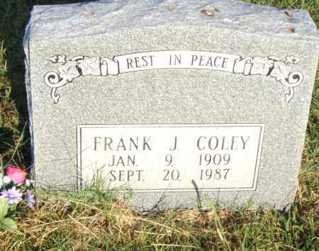 COLEY, FRANK J. - Pulaski County, Arkansas   FRANK J. COLEY - Arkansas Gravestone Photos