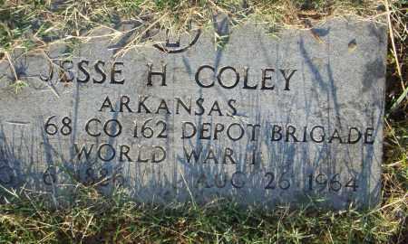 COLEY  (VETERAN WWI), JESSE H. - Pulaski County, Arkansas | JESSE H. COLEY  (VETERAN WWI) - Arkansas Gravestone Photos