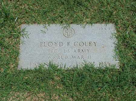 COLEY (VETERAN WWII), FLOYD F - Pulaski County, Arkansas   FLOYD F COLEY (VETERAN WWII) - Arkansas Gravestone Photos