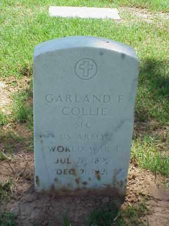 COLLIE (VETERAN WWI), GARLAND F - Pulaski County, Arkansas | GARLAND F COLLIE (VETERAN WWI) - Arkansas Gravestone Photos