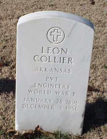 COLLIER (VETERAN WWI), LEON - Pulaski County, Arkansas   LEON COLLIER (VETERAN WWI) - Arkansas Gravestone Photos
