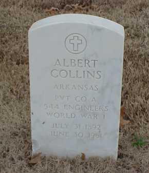 COLLINS  (VETERAN WWI), ALBERT - Pulaski County, Arkansas | ALBERT COLLINS  (VETERAN WWI) - Arkansas Gravestone Photos