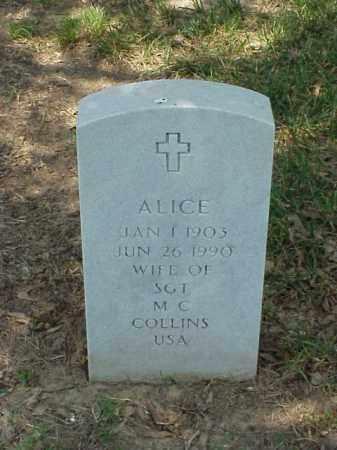 COLLINS, ALICE - Pulaski County, Arkansas | ALICE COLLINS - Arkansas Gravestone Photos