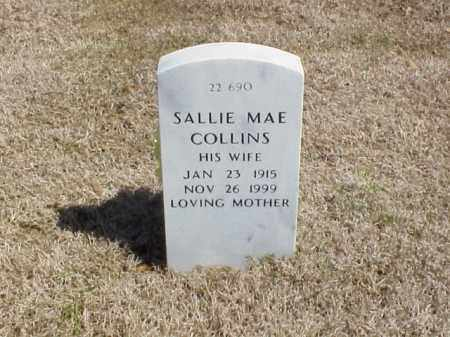COLLINS, SALLIE MAE - Pulaski County, Arkansas   SALLIE MAE COLLINS - Arkansas Gravestone Photos