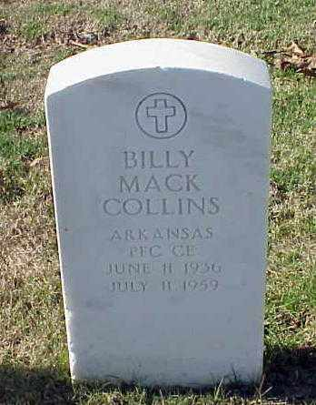 COLLINS (VETERAN), BILLY MACK - Pulaski County, Arkansas | BILLY MACK COLLINS (VETERAN) - Arkansas Gravestone Photos