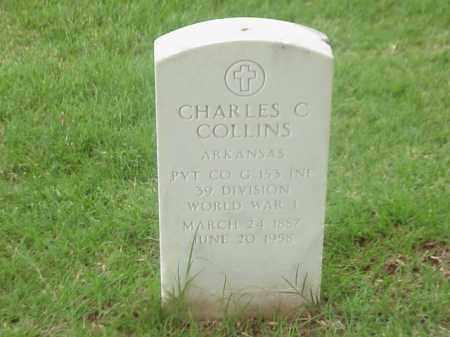 COLLINS (VETERAN WWI), CHARLES C - Pulaski County, Arkansas | CHARLES C COLLINS (VETERAN WWI) - Arkansas Gravestone Photos