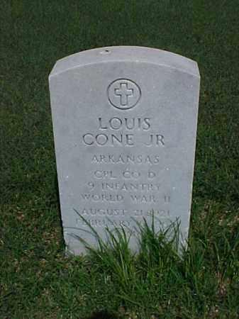 CONE, JR (VETERAN WWII), LOUIS - Pulaski County, Arkansas   LOUIS CONE, JR (VETERAN WWII) - Arkansas Gravestone Photos