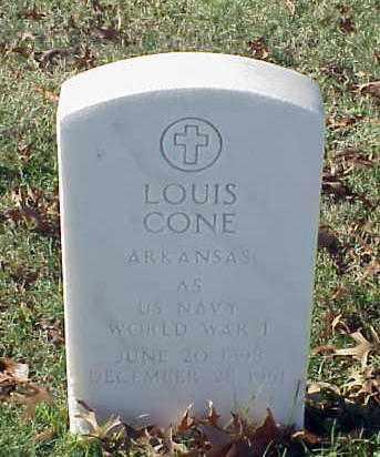 CONE (VETERAN WWI), LOUIS - Pulaski County, Arkansas | LOUIS CONE (VETERAN WWI) - Arkansas Gravestone Photos