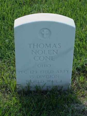 CONE (VETERAN WWI), THOMAS NOLEN - Pulaski County, Arkansas | THOMAS NOLEN CONE (VETERAN WWI) - Arkansas Gravestone Photos