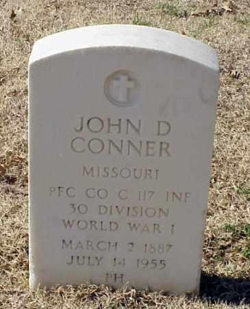 CONNER (VETERAN WWI), JOHN D - Pulaski County, Arkansas | JOHN D CONNER (VETERAN WWI) - Arkansas Gravestone Photos