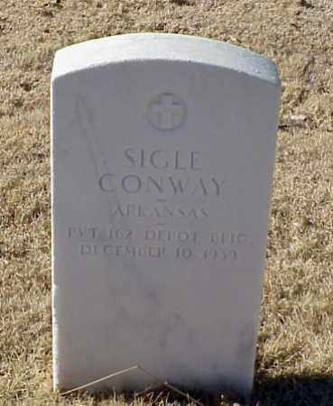 CONWAY (VETERAN WWI), SIGLE - Pulaski County, Arkansas   SIGLE CONWAY (VETERAN WWI) - Arkansas Gravestone Photos