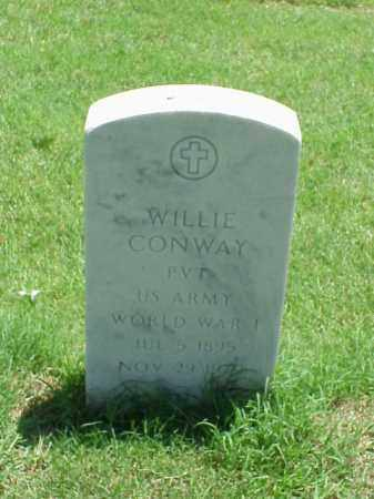 CONWAY (VETERAN WWI), WILLIE - Pulaski County, Arkansas | WILLIE CONWAY (VETERAN WWI) - Arkansas Gravestone Photos