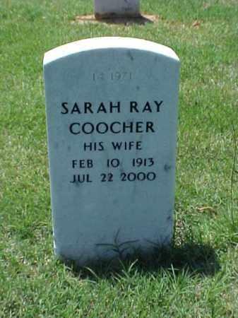 RAY COOCHER, SARAH - Pulaski County, Arkansas | SARAH RAY COOCHER - Arkansas Gravestone Photos