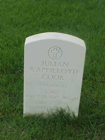 COOK (VETERAN), JULIAN RAPPILLOYD - Pulaski County, Arkansas | JULIAN RAPPILLOYD COOK (VETERAN) - Arkansas Gravestone Photos