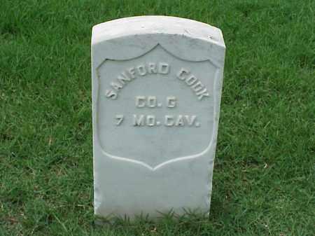 COOK (VETERAN UNION), SANFORD - Pulaski County, Arkansas | SANFORD COOK (VETERAN UNION) - Arkansas Gravestone Photos