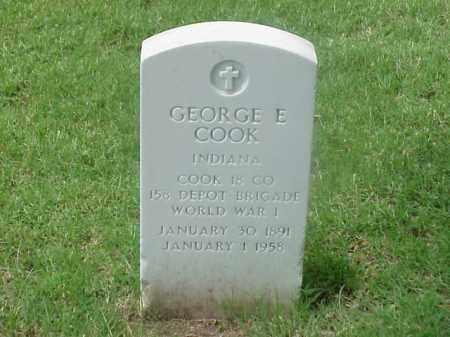 COOK (VETERAN WWI), GEORGE E - Pulaski County, Arkansas | GEORGE E COOK (VETERAN WWI) - Arkansas Gravestone Photos