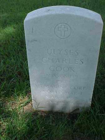 COOK (VETERAN WWI), ULYSES CHARLES - Pulaski County, Arkansas | ULYSES CHARLES COOK (VETERAN WWI) - Arkansas Gravestone Photos