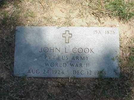 COOK (VETERAN WWII), JOHN L - Pulaski County, Arkansas | JOHN L COOK (VETERAN WWII) - Arkansas Gravestone Photos