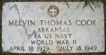COOK (VETERAN WWII), MELVIN THOMAS - Pulaski County, Arkansas | MELVIN THOMAS COOK (VETERAN WWII) - Arkansas Gravestone Photos