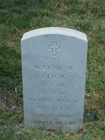 COOK (VETERAN WWII), WAYNE R - Pulaski County, Arkansas   WAYNE R COOK (VETERAN WWII) - Arkansas Gravestone Photos
