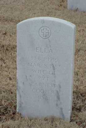 COOPER, ELLA - Pulaski County, Arkansas | ELLA COOPER - Arkansas Gravestone Photos