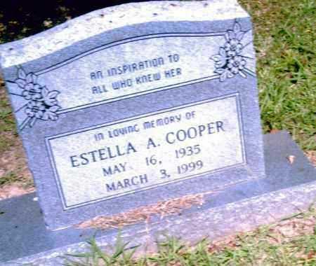 COOPER, ESTELLA A. - Pulaski County, Arkansas   ESTELLA A. COOPER - Arkansas Gravestone Photos