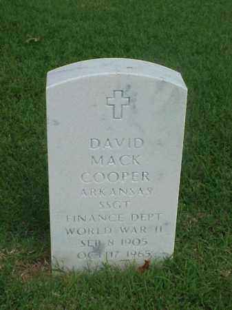 COOPER (VETERAN WWII), DAVID MACK - Pulaski County, Arkansas | DAVID MACK COOPER (VETERAN WWII) - Arkansas Gravestone Photos