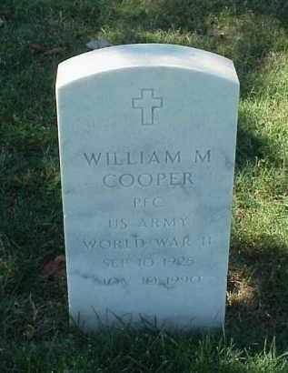 COOPER (VETERAN WWII), WILLIAM M - Pulaski County, Arkansas   WILLIAM M COOPER (VETERAN WWII) - Arkansas Gravestone Photos