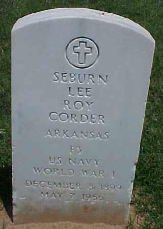 CORDER (VETERAN WWI), SEBURN LEE ROY - Pulaski County, Arkansas | SEBURN LEE ROY CORDER (VETERAN WWI) - Arkansas Gravestone Photos
