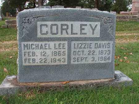 DAVIS CORLEY, LIZZIE - Pulaski County, Arkansas | LIZZIE DAVIS CORLEY - Arkansas Gravestone Photos