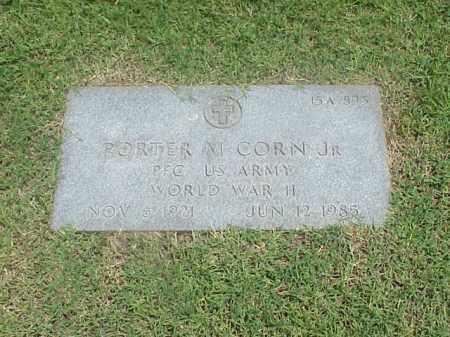 CORN, JR (VETERAN WWII), PORTER M - Pulaski County, Arkansas   PORTER M CORN, JR (VETERAN WWII) - Arkansas Gravestone Photos
