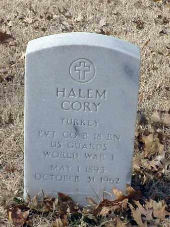 CORY (VETERAN WWI), HALEM - Pulaski County, Arkansas | HALEM CORY (VETERAN WWI) - Arkansas Gravestone Photos