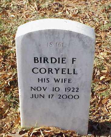CORYELL, BIRDIE F - Pulaski County, Arkansas | BIRDIE F CORYELL - Arkansas Gravestone Photos