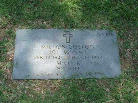 COSTON (VETERAN WWII), MILTON - Pulaski County, Arkansas | MILTON COSTON (VETERAN WWII) - Arkansas Gravestone Photos